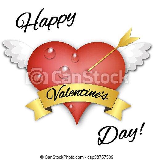 Valentines heart. Vector illustration. - csp38757509