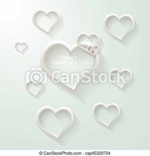 Valentines heart. Vector illustration. - csp45329704
