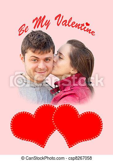"valentine""s, jour, carte - csp8267058"