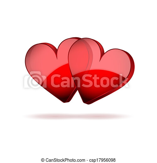 valentines, két, háttér, piros, nap, boldog - csp17956098