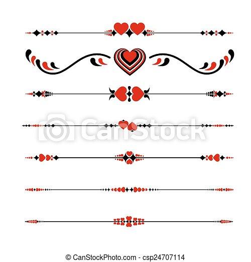 Valentines Line ornaments - csp24707114