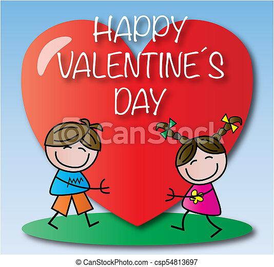 valentines nap, boldog - csp54813697