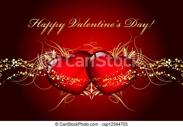 valentines nap, boldog - csp12344703