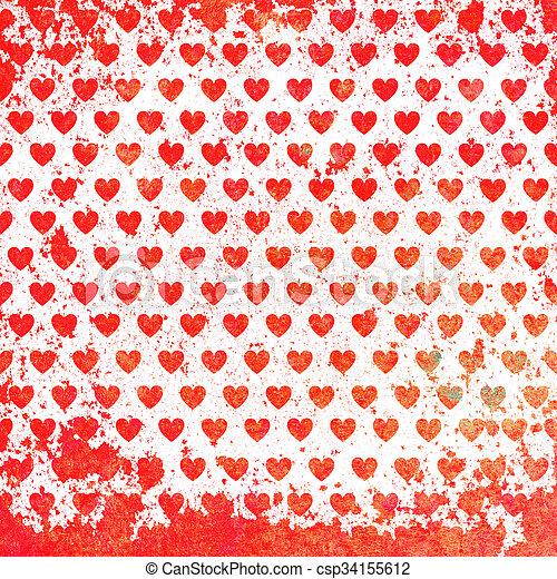 valentines nap, kártya - csp34155612