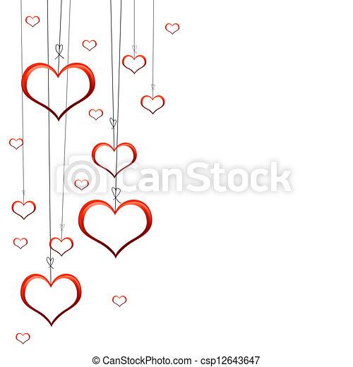 valentines nap, kártya - csp12643647