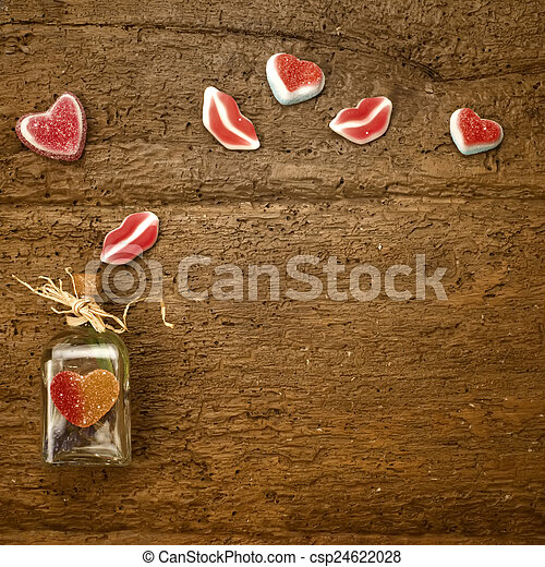 valentines nap, kártya - csp24622028