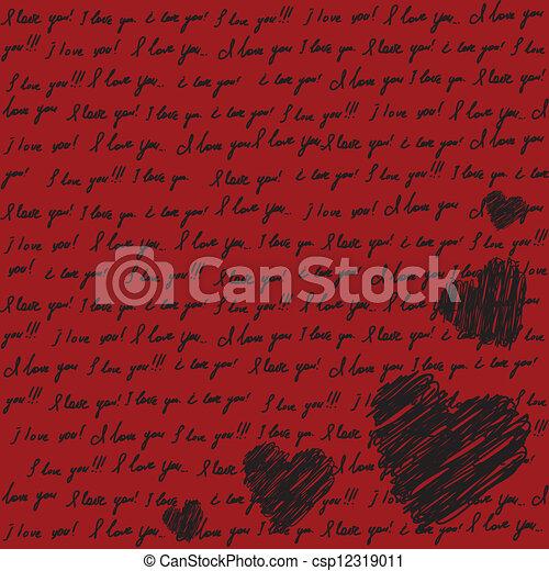 Valentines scrapbooking card  - csp12319011