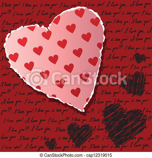 Valentines scrapbooking card - csp12319015