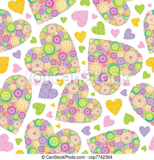 Valentines seamless vector background - csp7742364