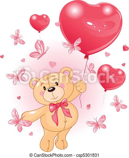 valentine%u2019s, teddy - csp5301831