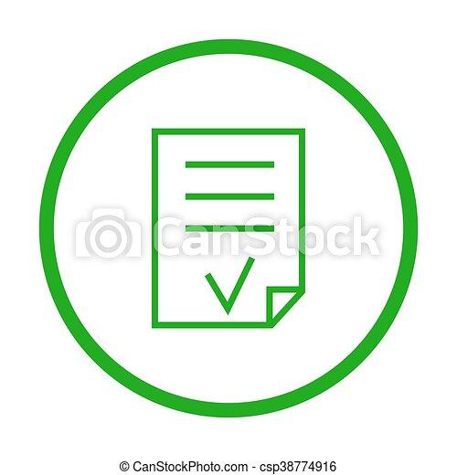 Valid Document vector icon. - csp38774916