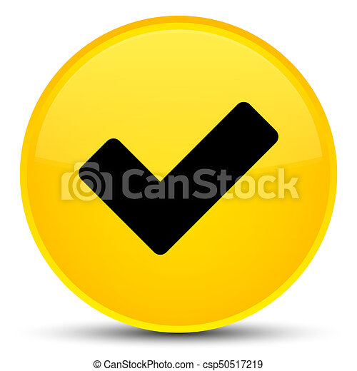 Validate icon special yellow round button - csp50517219