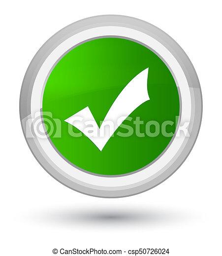 Validation icon prime green round button - csp50726024