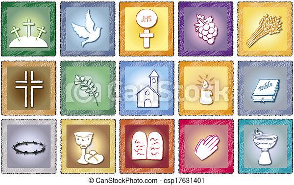 vallás, ikonok - csp17631401