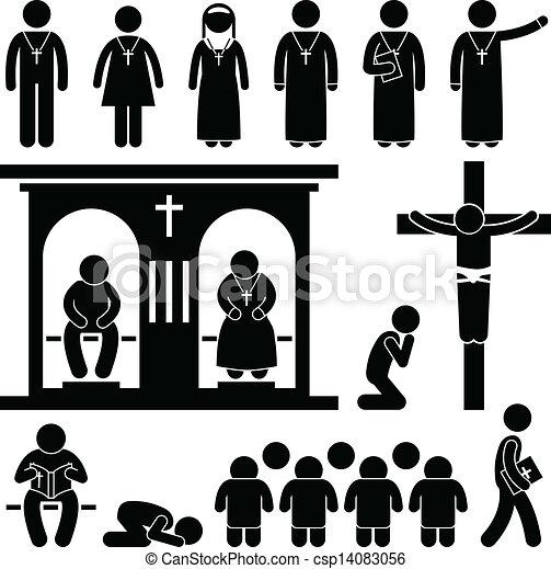 vallás, keresztény, tradíció, templom - csp14083056