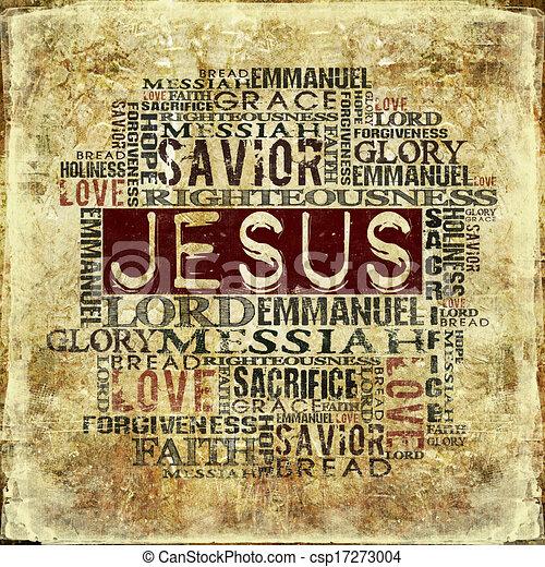 vallásos, háttér, jézus - csp17273004