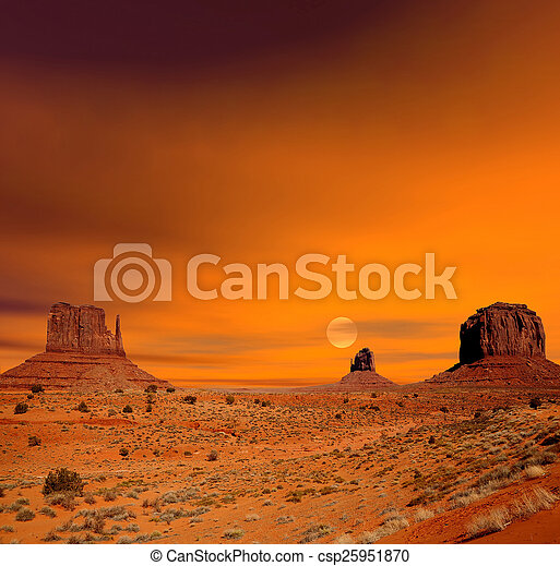 valle, alba, monumento - csp25951870