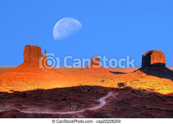 valle monumento, luna - csp22228259