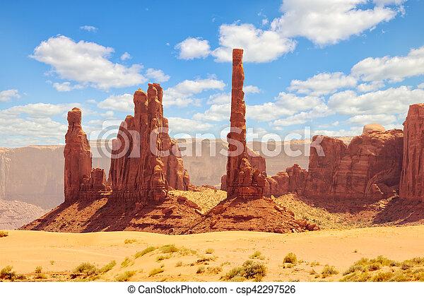El parque tribal de Monument Valley Navajo - csp42297526