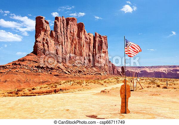 El parque tribal de Monument Valley Navajo - csp66711749