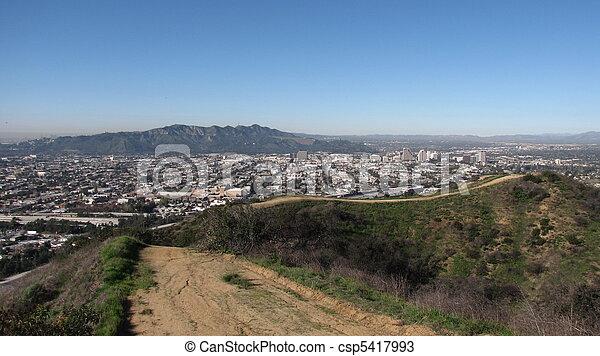 valle, vergezicht, spoor - csp5417993
