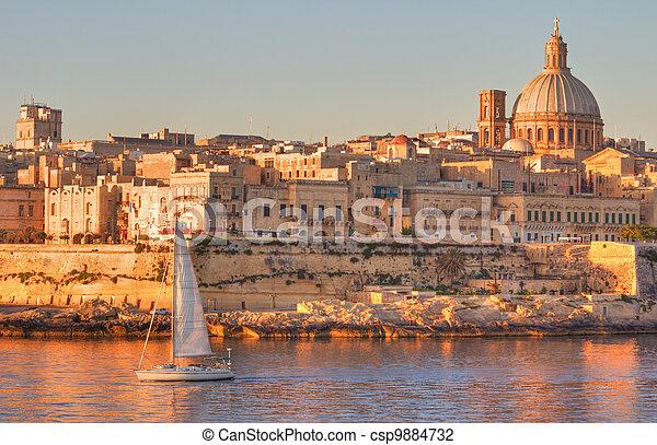Valletta, Malta - csp9884732