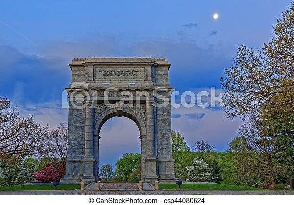 Valley Forge National Memorial Arch at Dawn - csp44080624