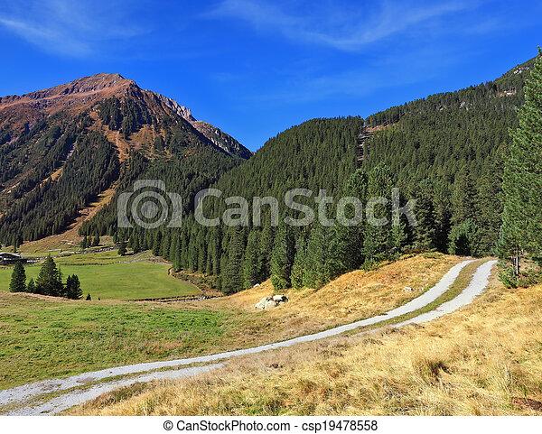 Valley in Austria - csp19478558