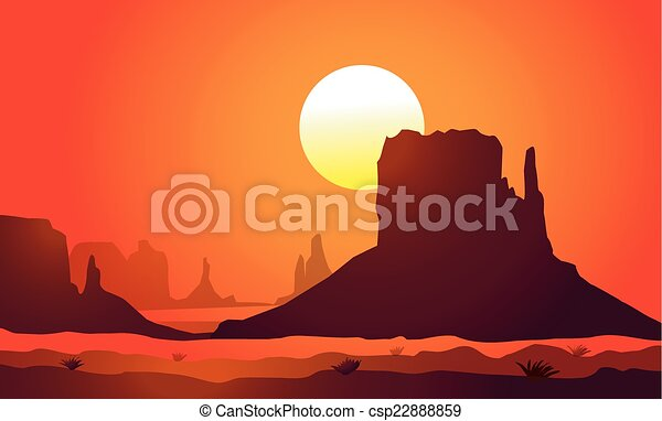 valley)sunset, arizona, (monument - csp22888859