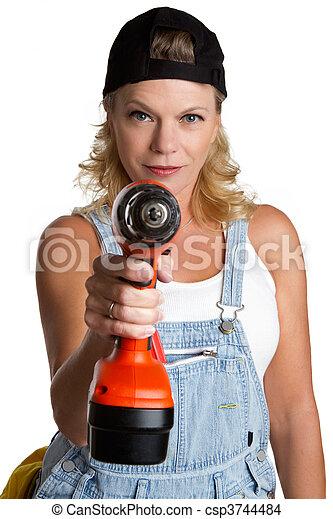 Una mujer con ejercicio - csp3744484