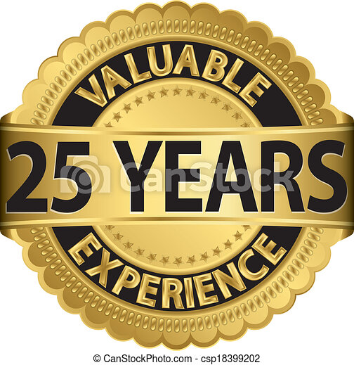 Valuable 25 years of experience gol - csp18399202