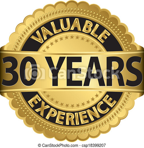 Valuable 30 years of experience gol - csp18399207