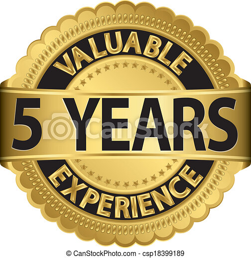 Valuable 5 years of experience gold - csp18399189