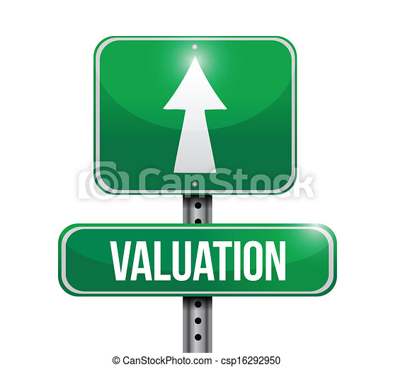 valuation road sign illustration design - csp16292950