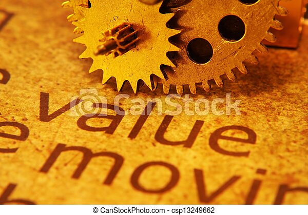 Value and gears concept - csp13249662