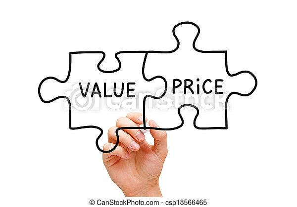 Value Price Puzzle Concept - csp18566465