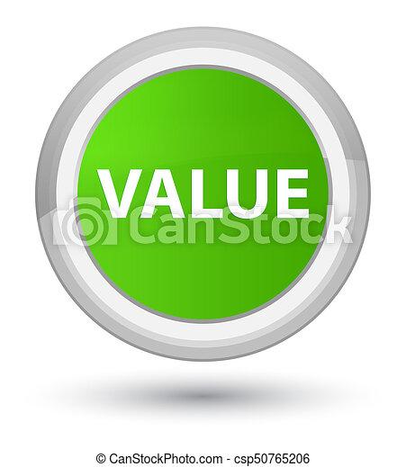 Value prime soft green round button - csp50765206