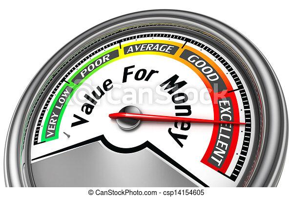 value rof money conceptual meter  - csp14154605