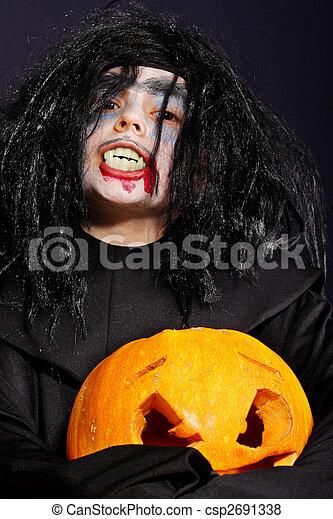 Vampire at Halloween - csp2691338