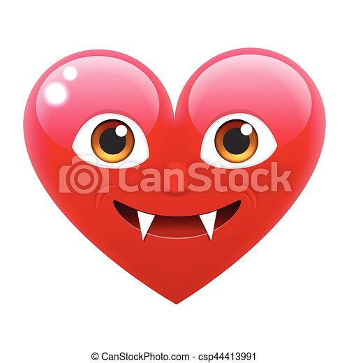 Vampire Heart Smile Emoticon Vampire Heart Emoji