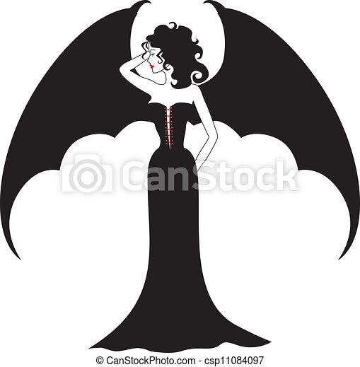 Vampire lady - csp11084097