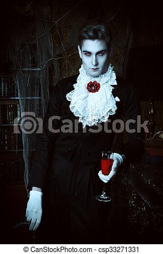 Vampire Man Stock Photo
