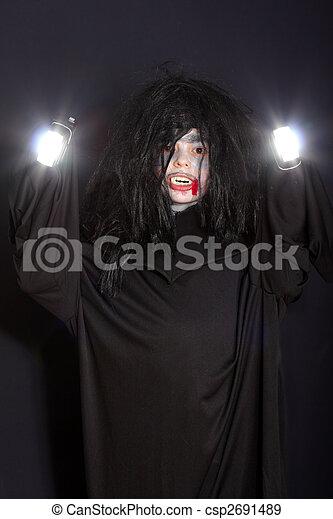 Vampire with light - csp2691489