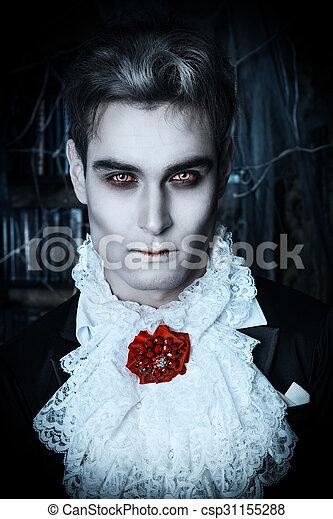 Trucco Halloween Vampiro Uomo.Vampiro Hallowin