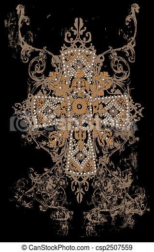 van een stam, ontwerp, kruis - csp2507559