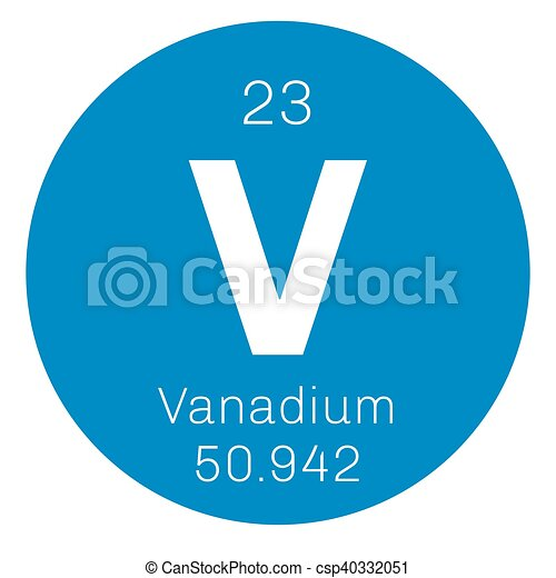 Vanadium chemical element transition metal colored icon with vanadium chemical element transition metal colored icon with atomic number and atomic weight chemical element of periodic table urtaz Choice Image