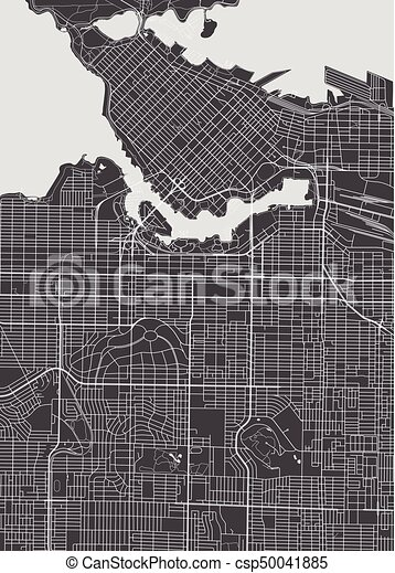 Vancouver city plan detailed vector map vancouver city plan detailed vector map gumiabroncs Gallery