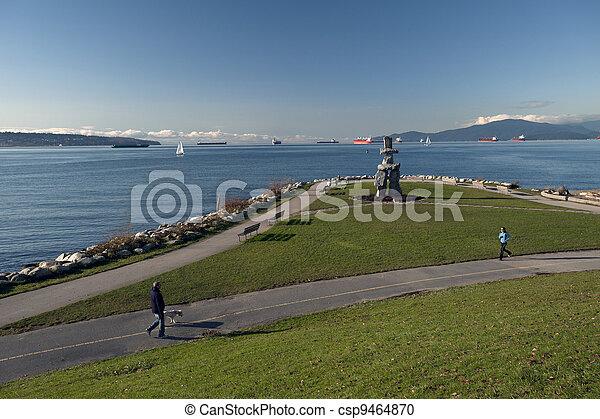 vancouver, inglese, spiaggia, primo, baia - csp9464870