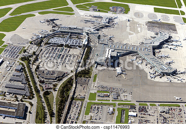 Vancouver International Airport in Richmond - panoramic view - csp11476993