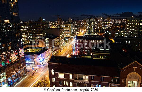 vancouver, notte - csp0617389